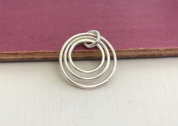 Sterling Silver Double Circle Links Charms Pendant Infinity Links Connectors Findings