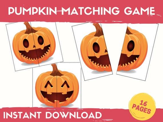 Halloween Matching Game Pumpkin Matching Activity Halloween