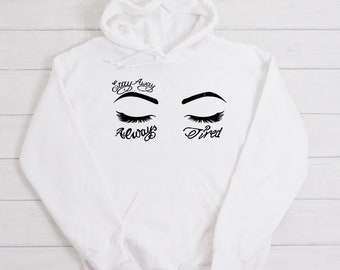 Music Always Tired Embroidery white Sweatshirt Post Malone Clothing