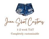 Custom Baby Toddler Jean Shorts (Boy Girl) READ DESCRIPTION