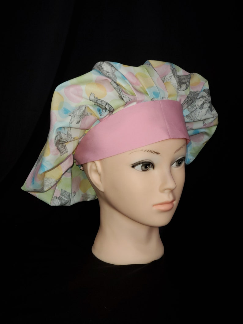 please read description below Dirty Dancing surgical bouffant scrub cap size M to L