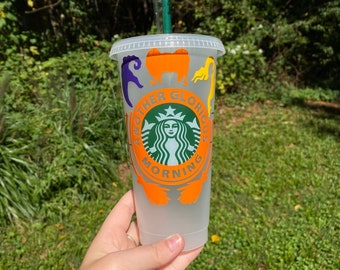 Snowflake 24oz Starbucks Cold CupWinter Reusable Plastic Coffee Cup with Lid and StrawChristmas Gift for MomHolidayHolographic Snowflake