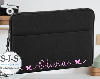 13 Personalized Airplane /& Girl Pilot Laptop Sleeve//Case