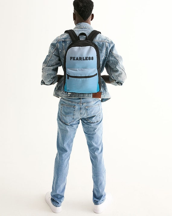 Canvas Structured Backpack Light Blue
