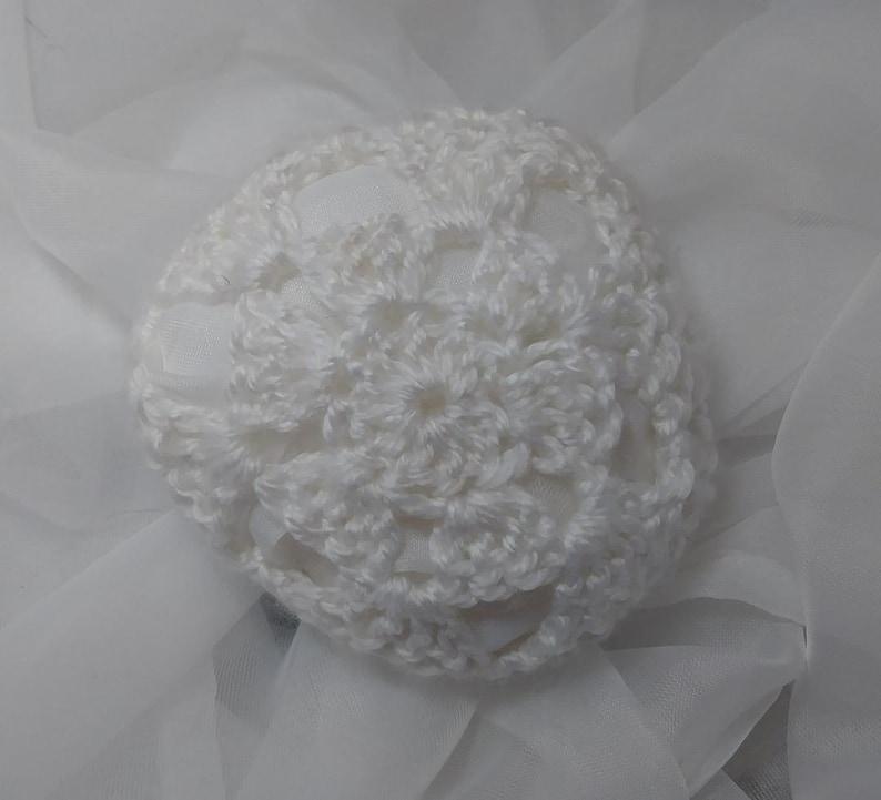 4 Ballet Crochet Bun Cover Rose Handmade Hair MADE IN USA.