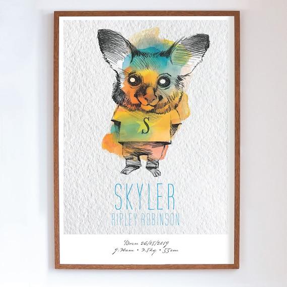 Printable 'SKYLER' POSSUM Customised Poster  Full