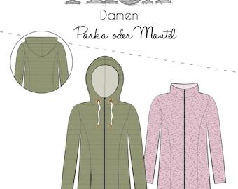 Sewing Pattern Alex Women's Thread Beetle Coat Parka Gr.32-58