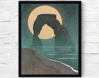 Strange Frontier: Lonesome Tides, Cowboy Print, Adventure Wall Art Decor, Fantasy Scifi Landscape, Printable Digital Instant Download