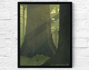Strange Frontier: Forests of Light, Cowboy Art Print, Adventure Wall Art Decor, Fantasy Scifi Landscape, Printable Digital Instant Download