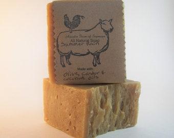 Chunky Sheep Milk Soap: Summer Rain