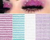 Festival Face Stickers Rave Sticker Rhinestones Face Jewels Gems