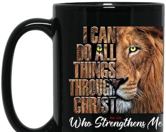 Lion Coffee Mug Etsy