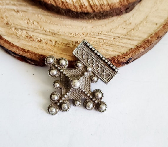 SILVER Moroccan Berber Pendant Ethnic Tribal North African Amulet Talisman Ancient Gates of Paradise 3