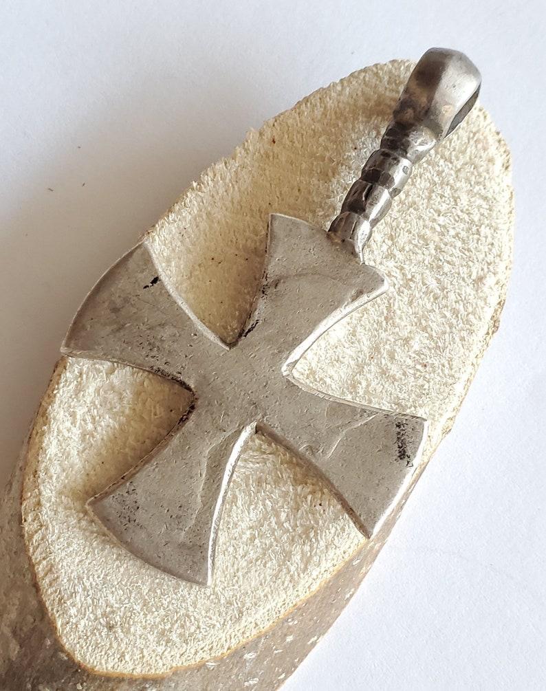 Cross Pendant,Ethnic Tribal,Handmade Jewelry silver coin Antique Silver Ethiopian Orthodox Coptic Cross pendant,Maria Theresa