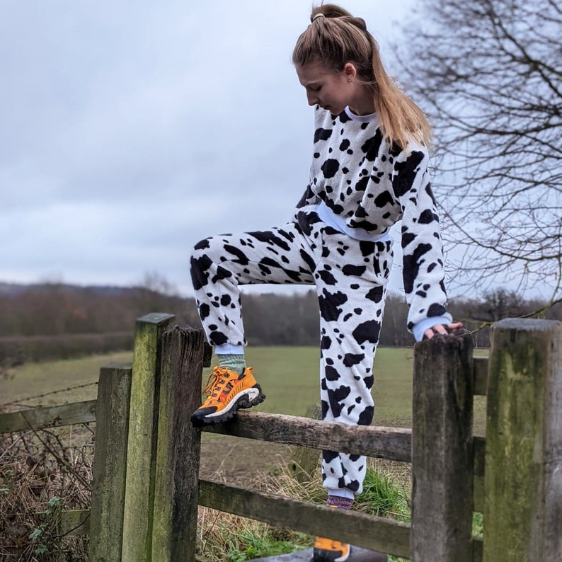 Cow print Joggers
