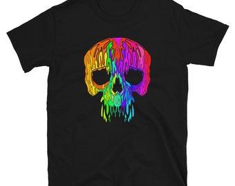 Ladies Halloween Melting Skulls Moisture Wicking Shirt 19423NBT2-LST350