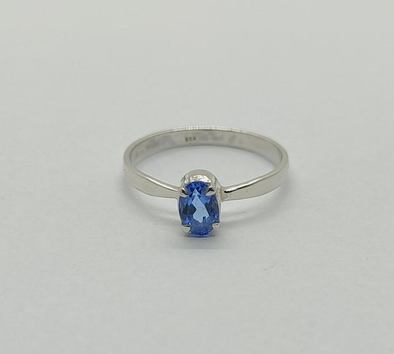 Aqumarine Silver Ring Woman Ring Jewelry Tanzanite Topaz Ring Natural Blue Topaz Silver Ring Blue Topaz Ring Sterling Silver Rings