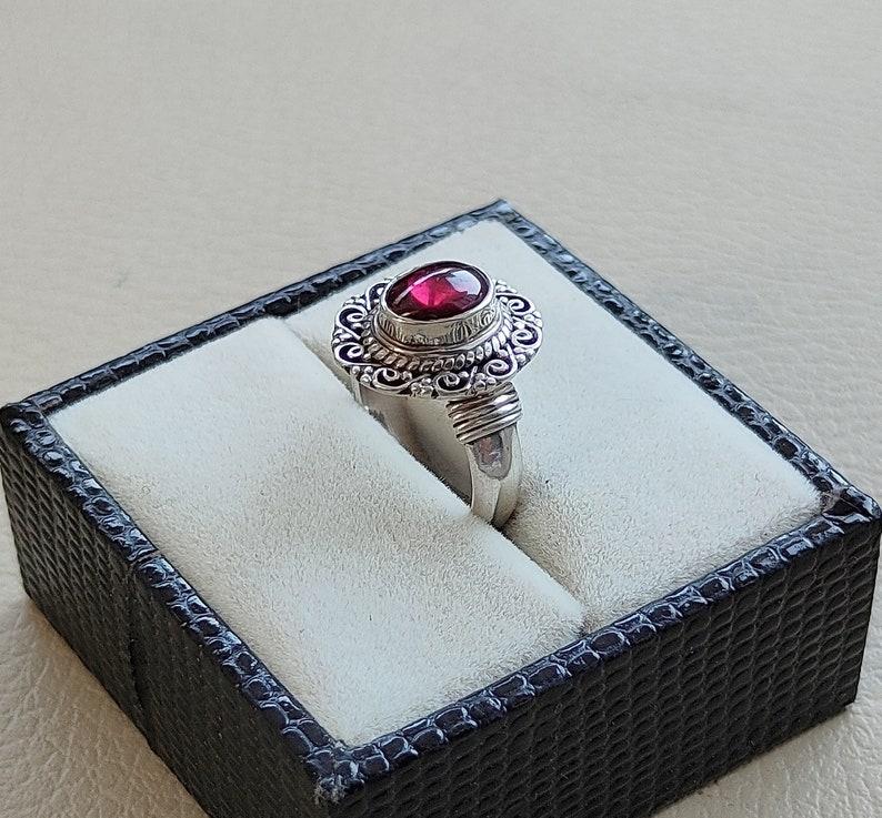 Natural Garnet Ring Vintage Garnet Ring Traditional Garnet Ring Garnet Ring For Mothers Garnet Silver Ring Filigree Garnet Ring,