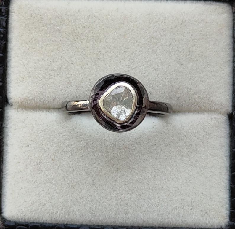 Victorian Ruby Ring Handmade Silver Ring Natural Ruby Ring 925 Sterling Silver Ring Uncut Diamond Ring Raw Diamond Silver Stone Ring