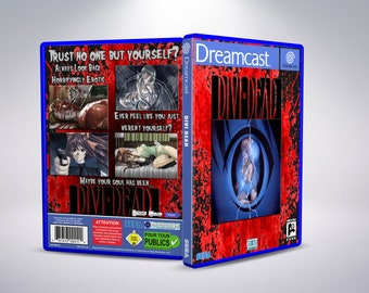 Sega Dreamcast Custom Divi Dead Replacement DVD Cases & Artwork Updated Cases