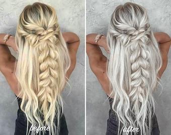 4 HAIR BY CHRISSY Presets for Lightroom Mobile, Instagram Preset, Blondes Preset, Chrissy Hair, Platinum Blonde Preset, dng, mobile preset
