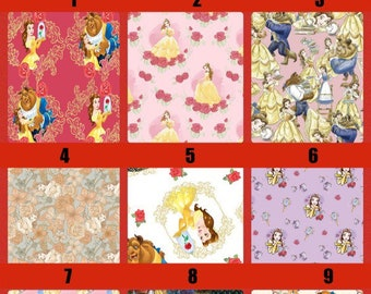 Disney Beauty and the Beast Fabric 100% Cotton!