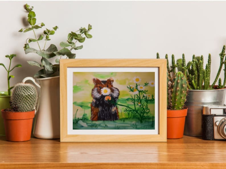 Fluffy mouse Mouse smelling flowersRelax mousemouse and flowers Cute fluffy mouse