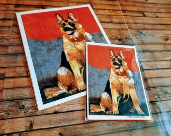 German Sheppard/ Dog drawing/ German Shepard painting/ Dog painting