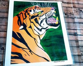 Tiger fury Prints  Glicee Prints
