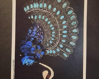 Royal Peacock  Blue peacock  Peacock painting 