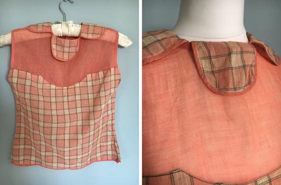 Original 1920's 1930's cotton flapper blouse top a
