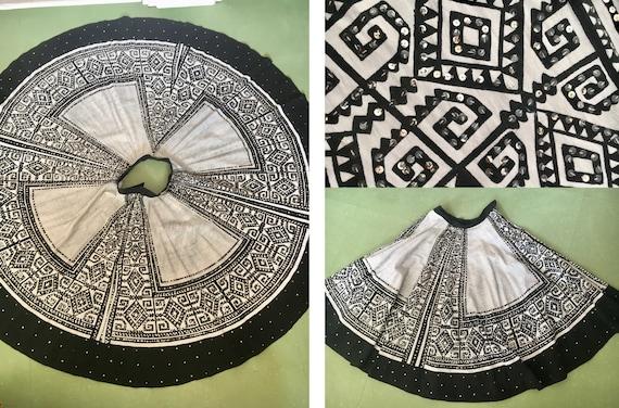 Original 1950's full circle Mexican sequin fiesta