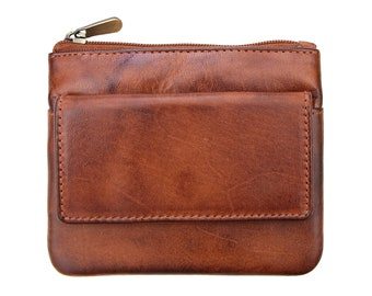 Prime Hide Cherokee Womans Small Brown Leather Purse Wallet Trifold RFID Safe