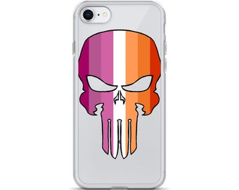 Lesbian Pride Skull iPhone Case