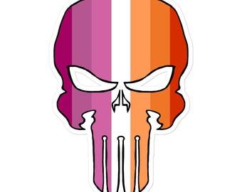Lesbian Pride Skull Sticker