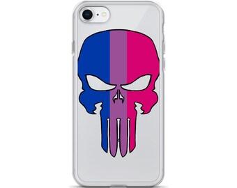 Bisexual Pride Skull iPhone Case