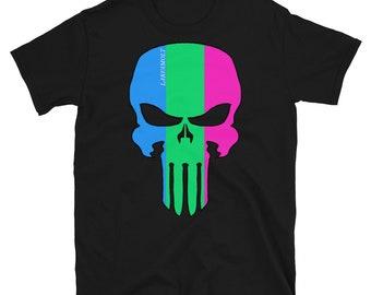 Polysexual Pride Skull Short-Sleeve Unisex T-Shirt