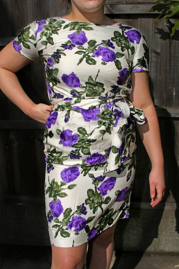 1950's floral dress with pockets