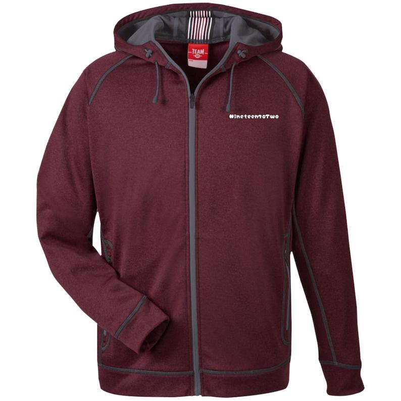 TT38 Men/'s Heathered Performance Hooded Jacket