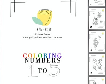 COLORING BOOK - Numbers 1 to 5 | fun coloring page | activity page