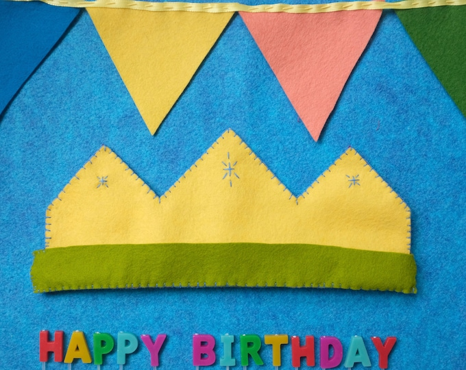 felt crown - reversible | birthday crown | princess + prince | magical | 100% wool felt