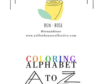 COLORING BOOK - Alphabet A to Z | fun coloring page | activity page