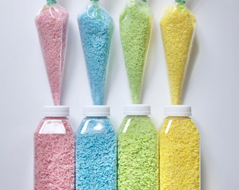 sensory rice | pastel rice | natural food coloring | naturally dyed rice | bag of rice
