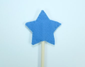 star felt wand  | pretend play | princess | fairy | magic wand | toddler | waldorf