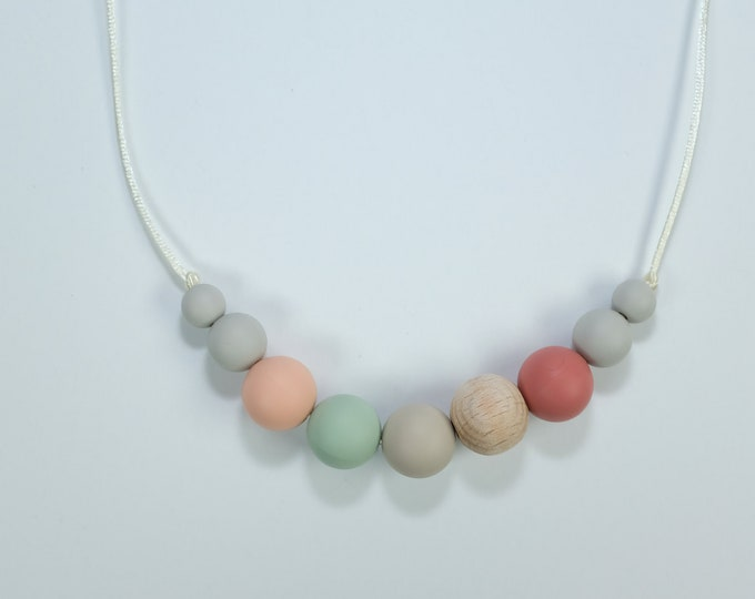 modern chewing necklace | silicone jewelry | teething necklace | earth tone necklace | modern mama | adult chewelry | fidget