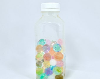 sensory bottle - water beads  | diy kit | calming bottle | choose your own color | easy sensory kit | sensory water beads