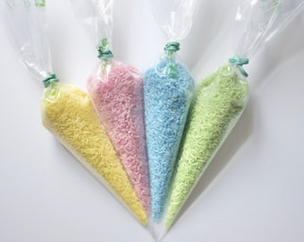 sensory rice | pastel rice | naturally dyed rice | bag of rice | natural food coloring