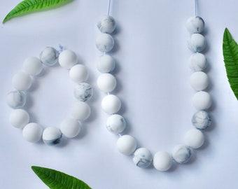 modern silicone necklace + bracelet set | fidget jewelry | chewelry | modern mama | casual jewelry | adult chewelry