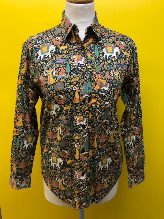 1980's French 'Cacharel' amazing liberty print Lad