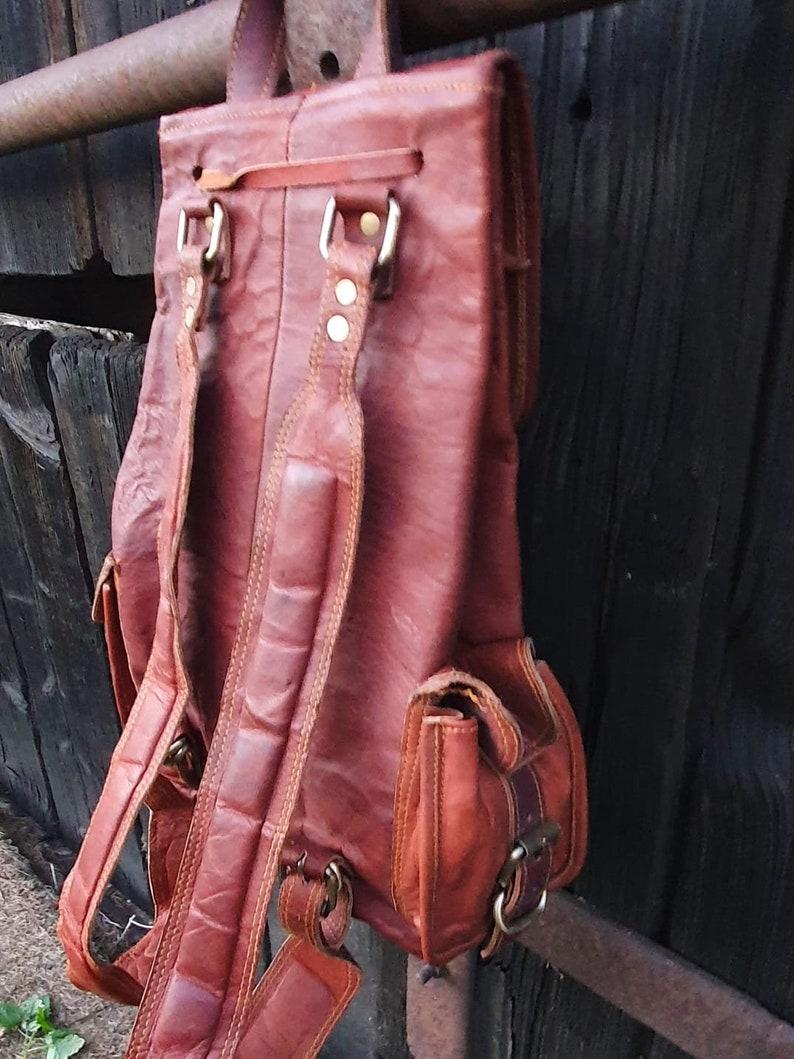 Vintage Backpack Backpack Leather Backpack Leather Bag